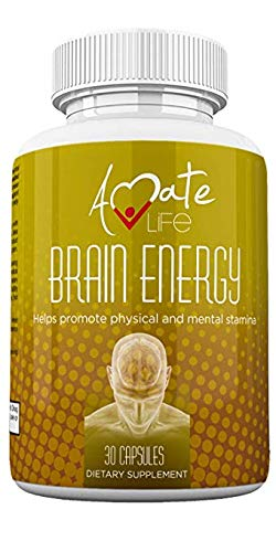 Brain Supplement with Vitamin b12 500mcg, Vitamin b6, b1, b2, b3 & Folic Acid - Focus Supplement Supports Anxiety Relief & Mental Stability for Women & Men - No Crash/Jitter - 30 Capsule by Amate Life