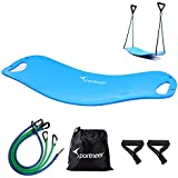 Sportneer Balance Board with 4 Resistance Bands, Wobble Fit Board for Stability Training, Twisting Exercise, Abs Arms Legs Toning, Fitness and Physical Therapy