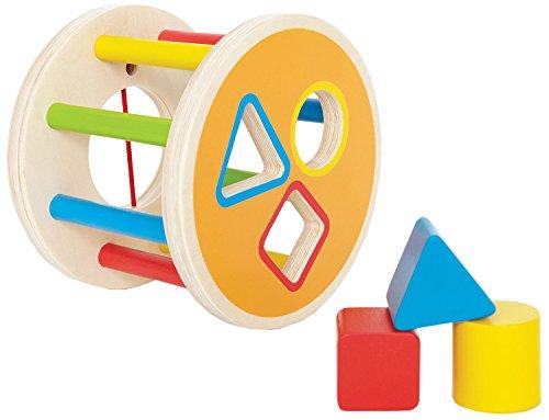 Shape Sorter Bucket - Hape 1-2-3 Kid's Wooden Shape Learning Sorter