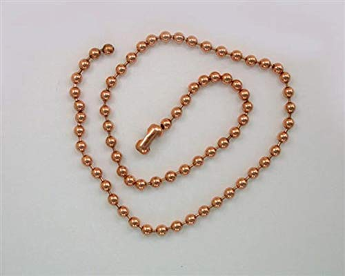 (Solid Copper Bead Ball Chains, Choice of Lot Size & Length)