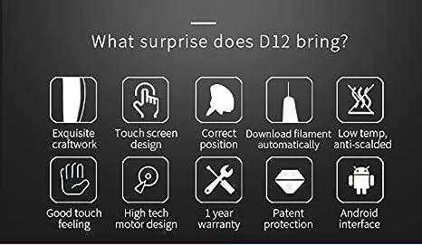 Auveach 3D Penna Stampa con 5 m 1.75mm PCL Fliament Set Touch Screen 96 Ore di Uso Continuo Bassa Temperatura Adatto ai Bambini Blu