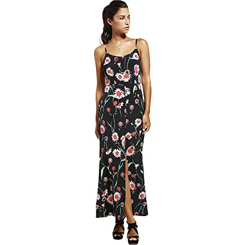 DRESSFO Trendy Fashionable Long Cami Floral Print Design Slit Summer Maxi Women Dresses from DRESSFO