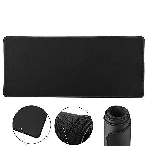Cmhoo XXL Desk Pad Protecter Blotters 31.5x15.7IN & Extended Gaming Mouse Pad (80x40 Black)