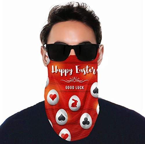 フェイスカバー Uvカット ネックガード 冷感 夏用 日焼け防止 飛沫防止 耳かけタイプ レディース メンズ Happy Easter Good Luck
