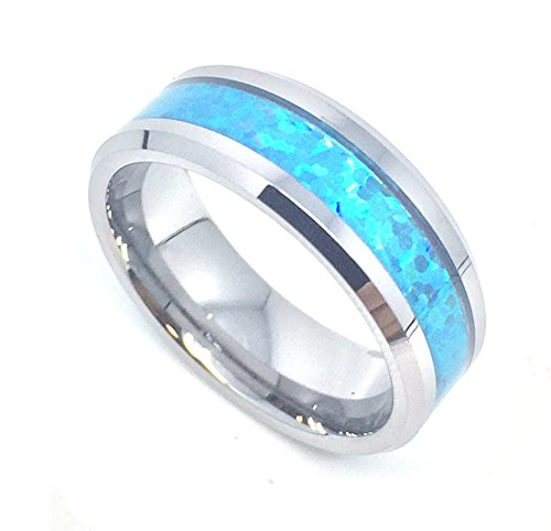 Blue Opal Tungsten Carbide Comfort