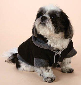 Pooch+Plus™ Uptown Black/Gray Fleece Jacket / X-Small 6