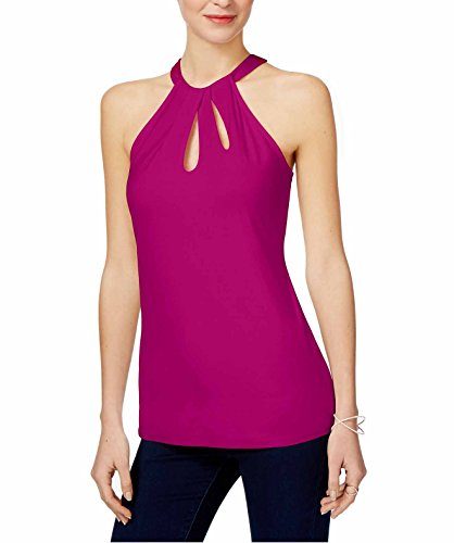 INC International Concepts Women's Tropic Heat Cutout Halter Top (XL, Magenta - International Magenta