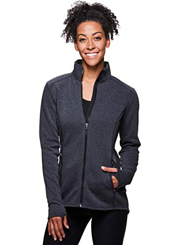 RBX Active Women's Fleece Mock Neck Jacket F18 Charcoal L ()