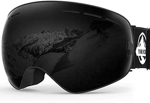 YAKAON Y1 Ski Goggles, OTG Snowboard for Men, Women, Youth, 100 UV Protection, Dual Anti Fog Spherical Lens, Adjustable Strap for Comfortable Fit and Helmet Compatibility