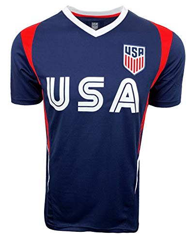USA Soccer Officially Licensed Youth Training Performance Jersey (Youth Medium)