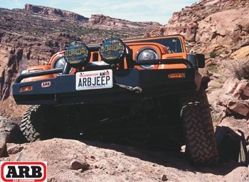 ARB ARB-3450070 Front Bullbar Bumper With Winch Mount for 1997-02 Jeep Wrangler (Jeep Winch Bar Bull Arb)