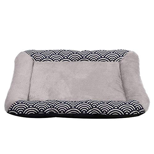 - Yunqir Dog Bed Zephyr Pet Mat Water Ripple Kennel Teddy Dog Mat Pet Worm Cushion Mat (Color : Gray, Size : Small)