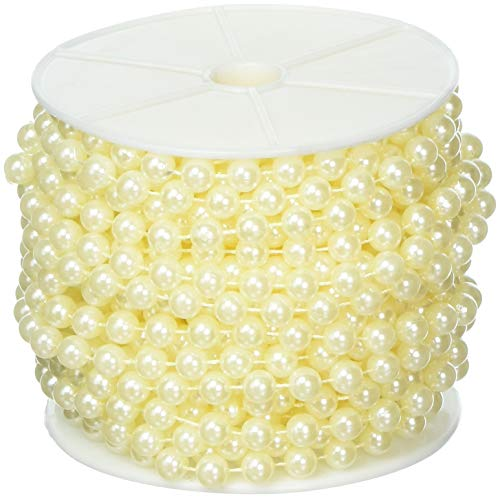 Faux Pearl Beads - Science Purchase Large Pearls Faux Crystal Beads by The Roll, 10mm, Ivory