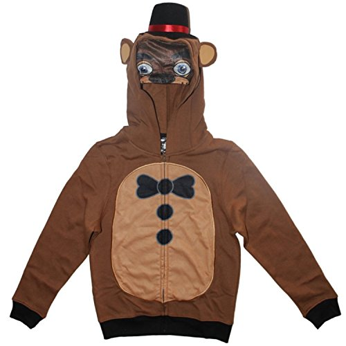 Five Nights at Freddy's Boys Fazbear Costume Hoodie (L (10/12)) (Minecraft Costumes Kids)
