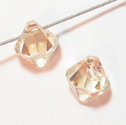 12 pcs Swarovski Crystal 6301 Top Drilled Bicone Pendant Bead Golden Shadow 6mm / Findings / Crystallized Element ()
