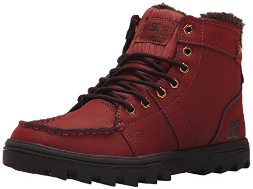 DC Men's Woodland Ankle Boot, Camel/Dark Chocolate, 9.5 D D (Dc Shoes Boots)