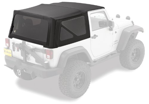Bestop 79841-17 Replace-A-Top Black Twill Fabric Replacement Soft Top with Tinted Windows; no door skins included for 1997-2006 Wrangler (except Unlimited)