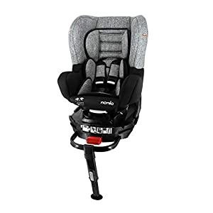 nania Siège Auto pour bébé Isofix et Jambe de Force pivotante REVO Groupe 0+/1 (0-18kg) et avec Protection latérale…