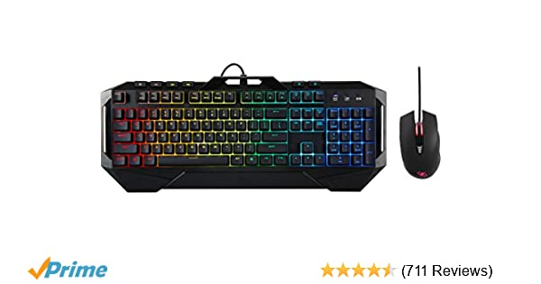 ROSEWILL Gaming RGB Keyboard and Mouse Combo, Rainbow RGB Backlit LED  Gaming Keyboard, Membrane Style w/ Mechanical Feel Keyboard w/ Multi-Media  Keys