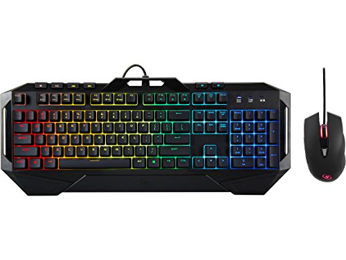 ROSEWILL Gaming RGB Keyboard and Mouse Combo, Rainbow RGB Backlit LED Gaming Keyboard, Membrane Style w/Mechanical Feel Keyboard w/Multi-Media Keys and Adjustable 4000 DPI LED Gaming Mouse