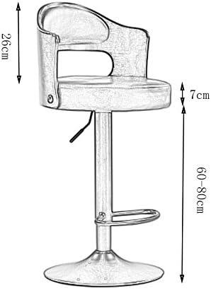 Draaistoel Barkruk met voetensteun, Counter Height Stool Green Cushion Stool, in hoogte verstelbaar, Rubber Wood 408 (Color : Green) Blue