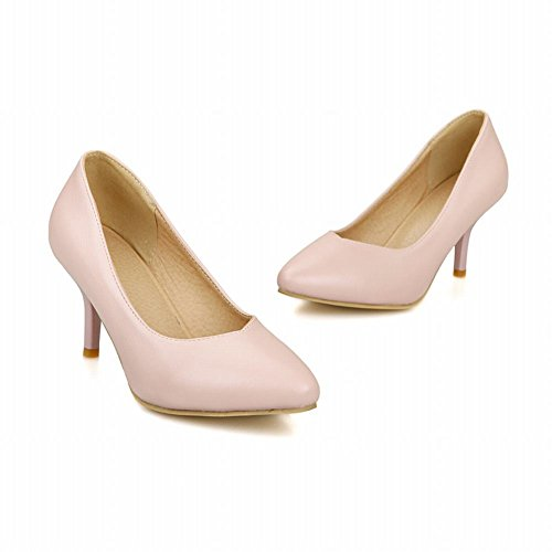Scarpe Da Donna Con Tacco Medio A Punta Tacco Medio, Scarpe Eleganti Rosa