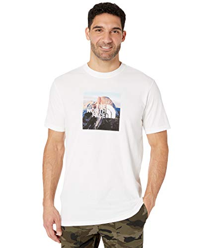 The North Face Men's Short Sleeve Clean Ascent Tee, TNF White, L (Adult North Face Jackets)