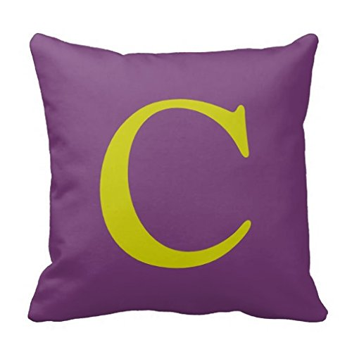 Indigo Letter Pillow (Letter C Throw 18*18 pillow Case)