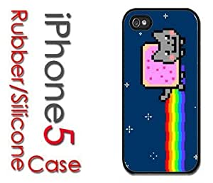 iPhone 5C (New Color Model) Rubber Silicone Case - Nyan Cat Pop Tart
