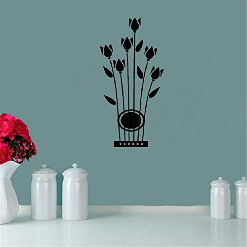Removable Vinyl Decal Art Mural Home Decor Wall Stickers Flowers Tulips Musical Instrument Strings