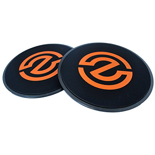 ZojiFit Gliding Discs – Set of 2 Core Sliders – Perfect for Home Workout & Gym – Strengthen Abs, Burn Calories – Dual Side Design Works on Hard Floors or Carpets – Quick On The Go Workouts For Sale