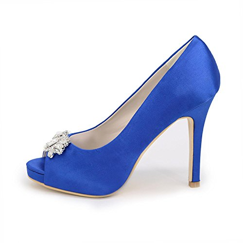 L@YC Women'S High Heels artificial Leather With / Fish Mouth High Heels Wedding / Office & Occupation / Leisure Purple / Blue / Red / Silver / White Silver rTiXps
