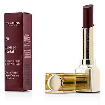 Clarins Rouge Eclat Satin Finish Age Defying Lipstick, 20 Red Fuchsia, 0.1 Ounce