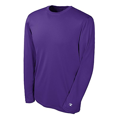 Double Dry Long Sleeve Tee - Large, Purple