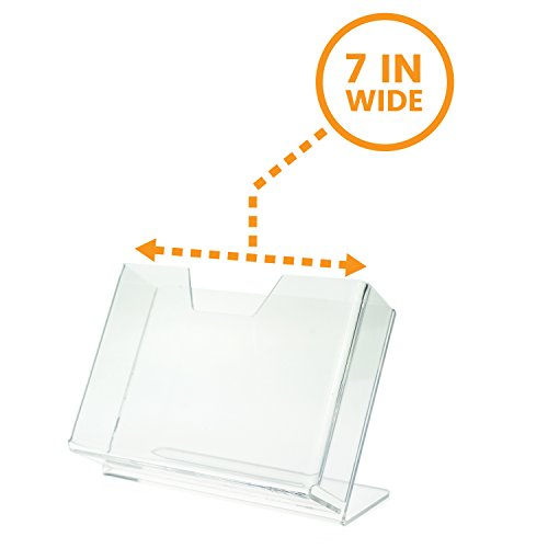 Greeting Card Display Holder - Source One Deluxe Clear Acrylic Countertop Greeting Card Display 1 & 3 Pockets Available (1, 7 1/4 Inch)