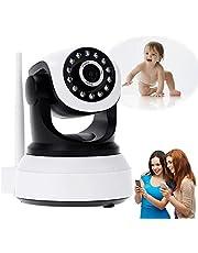 Wifi-IP-camera voor binnen, 1080p, HD, wifi, bewakingscamera voor binnen, babycamera, 2-weg audio, bewegingsalarm HD nachtzicht, app-bediening, hond, huisdier, kindermeisjes, ouderen, camera + 64 g