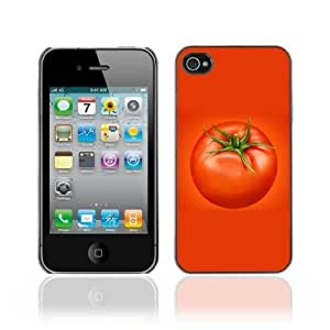 Designer Depo Hard Protection Case for Apple iPhone 4 4S / Cool Vegetable Tomato Design BY icecream design