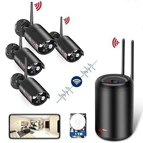 [2018 New Arrival] Wireless Security Camera System HD 1080p Video Security System with 4pcs Wifi Security Cameras,1TB HDD,Night Vision Indoor Outdoor Home Surveillance System WiFi NVR Kits by Anran