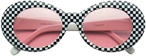Colorful Oval Kurt Cobain Inspired Mod Round Pop Fashion Sunglasses