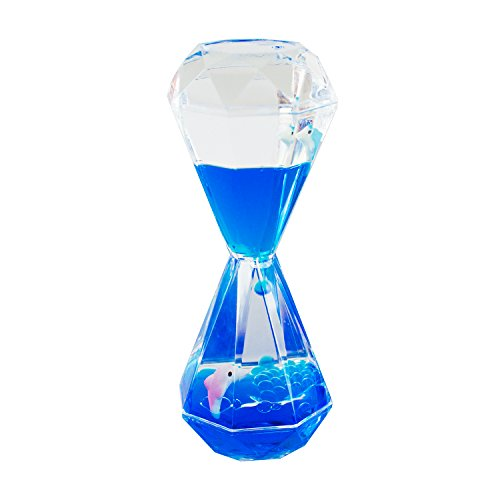 Colorful Liquid Motion Bubbler Desk Sensory Toy Timer Floating Marine Life Animals for Play, Fidgeting, Captivating Distraction by Super Z Outlet - Outlet Dolphin