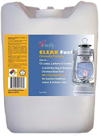 Firefly Citronella Clean Fuel Bulk Lamp Oil 5 Gallons Smokeless Virtually Odorless Longer Burning