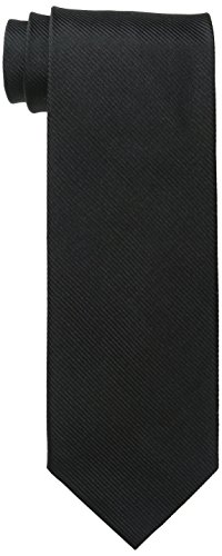 Bruno Piattelli Men's Tall Plus Size Extra Long Solid Silk Tie, Black, ()