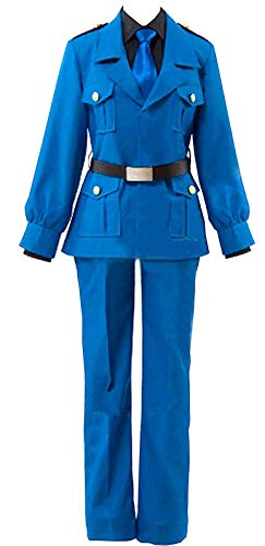 ZYHCOS Adults US Size Blue Uniform Cosplay Costume Full Sets (Mens-M)
