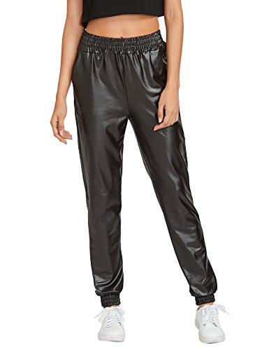 Verdusa Womens Elastic Leather Jogger product image