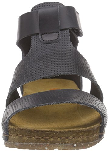 Women's Sandals Art Strap Ankle Creta Black Black 565rqIn