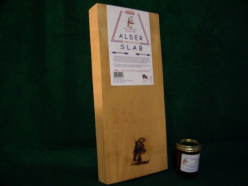 Just Smoked Salmon Western Red Alder Plank Slab 8 x 18 x1.5 inch ()