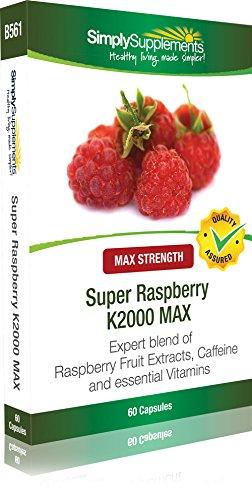 Super Frambuesa K2000 MAX - 60 cápsulas - Favorece la pérdida de peso - Simplysupplements: Amazon.es: Salud y cuidado personal