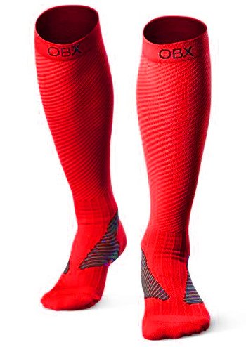 OBX Compression Socks for Men & Women-Professional Fit for Ruining&Racing-Knee High Socks for Athletics,Marathon,Travel,Shin Splints,hiking&Outdoor sports-Best for Muscle Recovery(1 pair) by OBX
