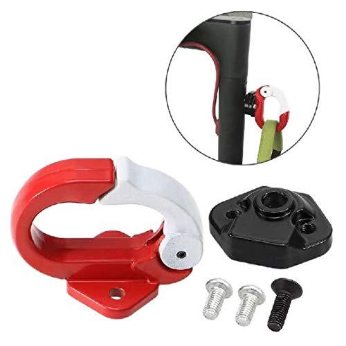 Theoutlettablet® Gancho para Bolsa Transporte Compatible con Patinete Scooter Xiaomi M365 - Color Rojo/Blanco