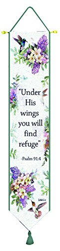 Manual Woodworkers & Weavers Tapestry Bell Pull, Whisper Wings with Verse